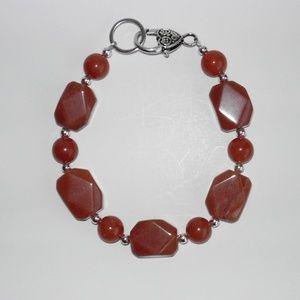"Natural Aventurine  bracelet 8.5"" (#229)"